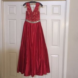 Jovani Red A-line Ballgown pageant prom gown